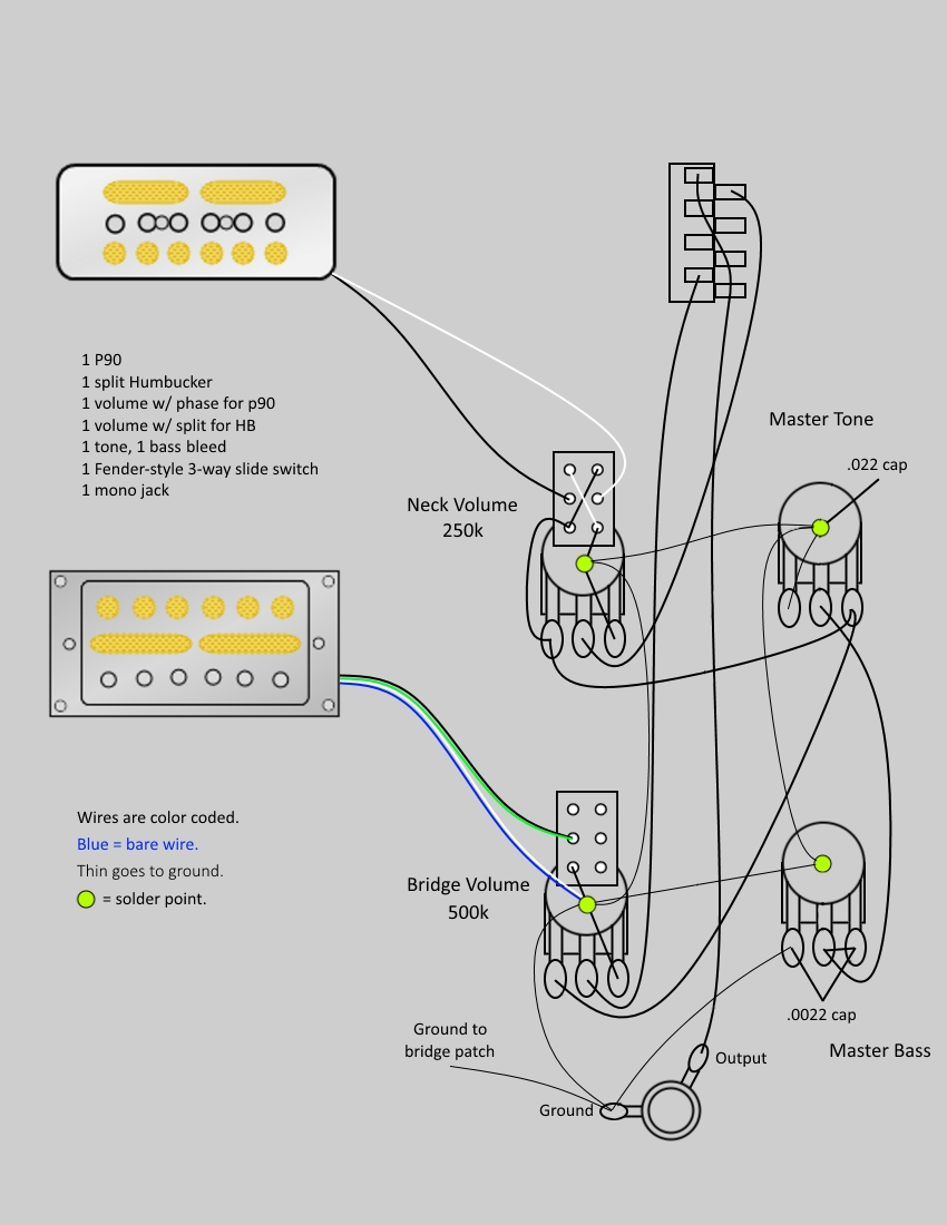 wiring diagram p90 humbucker wiring car wiring diagrams manuals