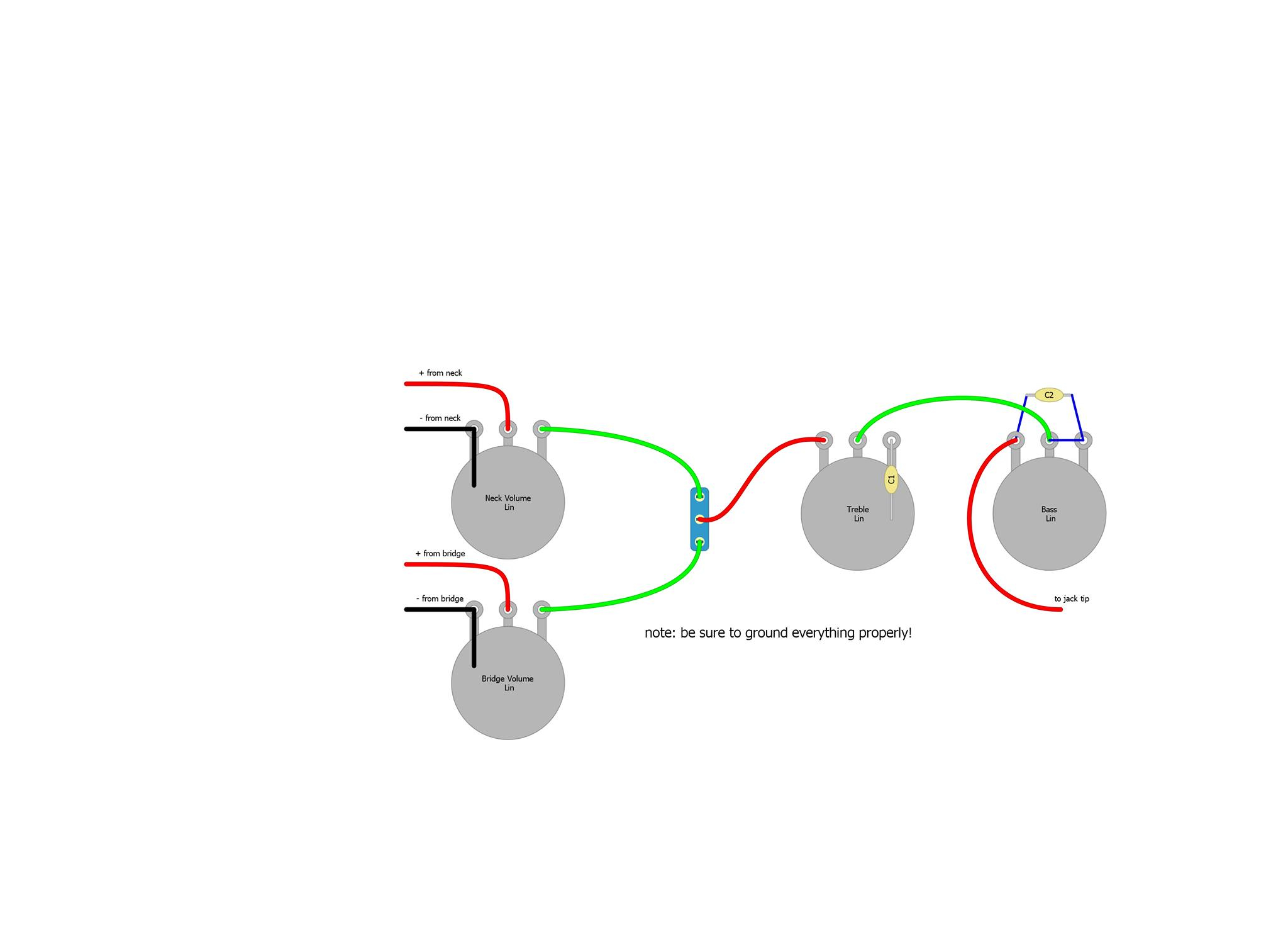 Two Band Ptb Tone Control Useful Easy Cheap Awesome Japanese Fender 5 Way Switch Wiring Diagram