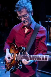 Jon Herington with his Gibson ES-336. [Photo: Tony Kukulich.]
