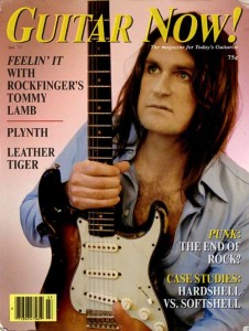 Rockfinger's Tommy Lamb graced the cover of Guitar Now! in 1977.