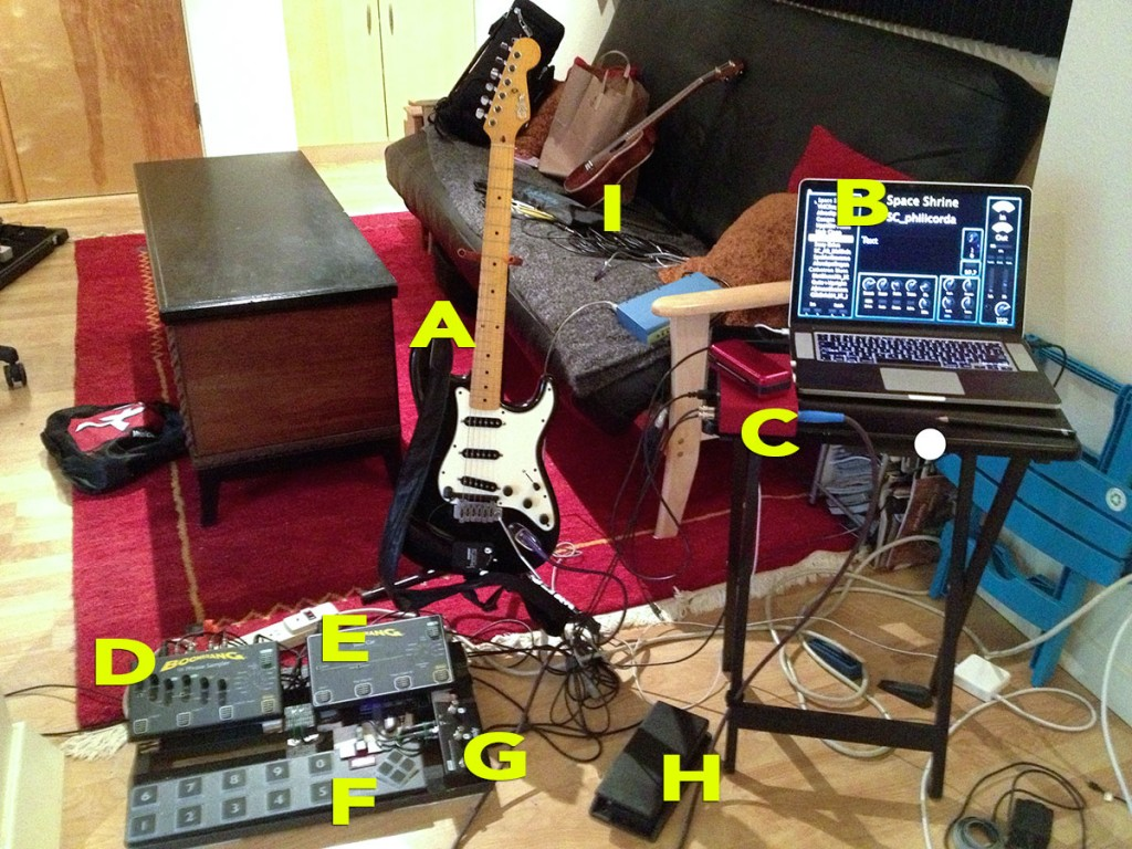 Joe's looping/MIDI rig.
