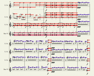 "Notion's hybrid notation/""piano roll"" view."