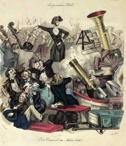 Berlioz's music was often less than subtle. Here's how one cartoonist depicted it.