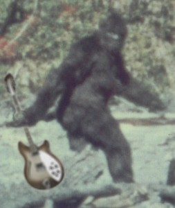 "One of the famous ""missing frames"" from 1967's controversial Patterson-Gimlin bigfoot footage."